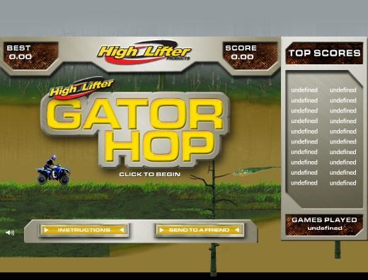 Jeu Gator hop