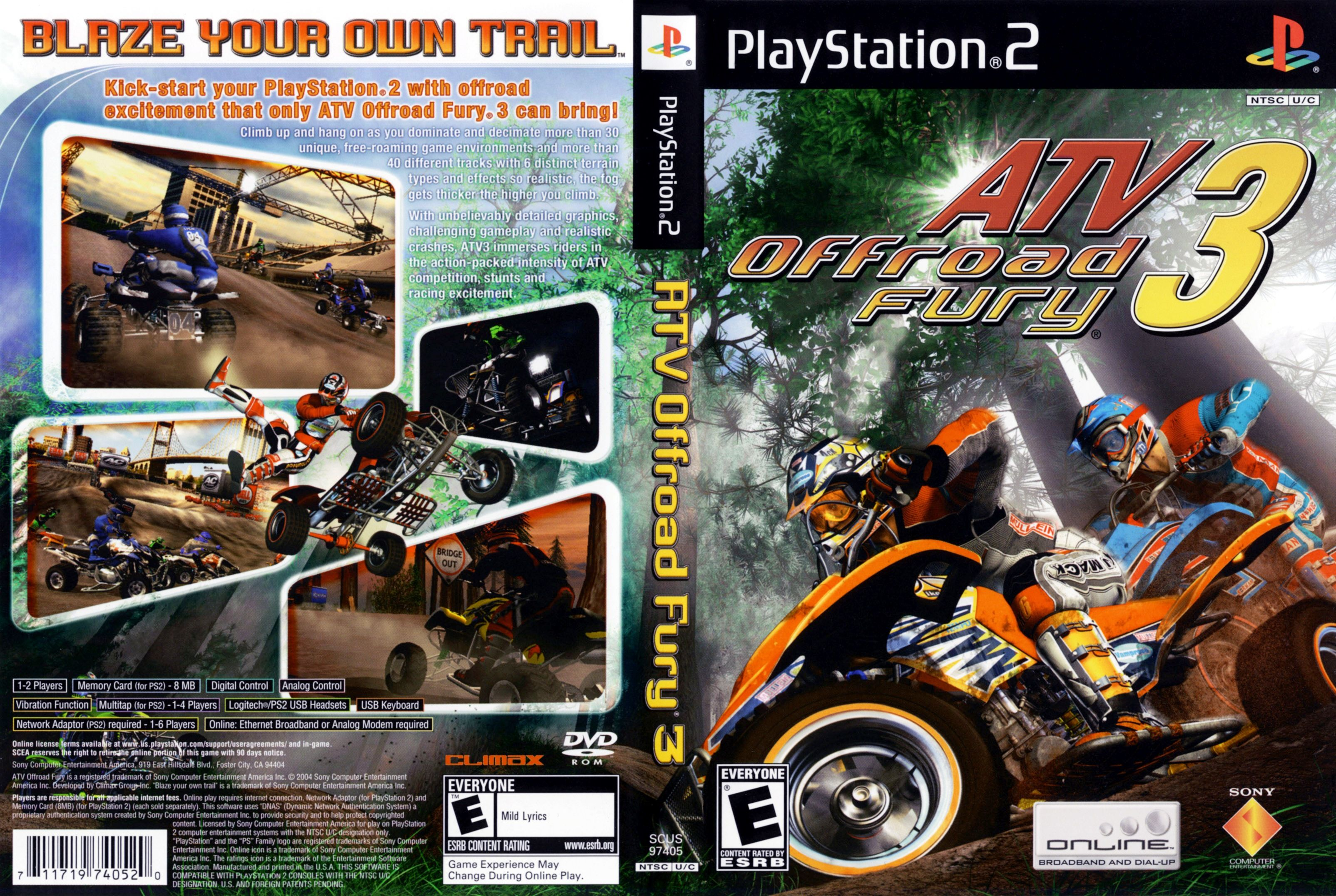 Jeu quad ATV Off Road Fury 3