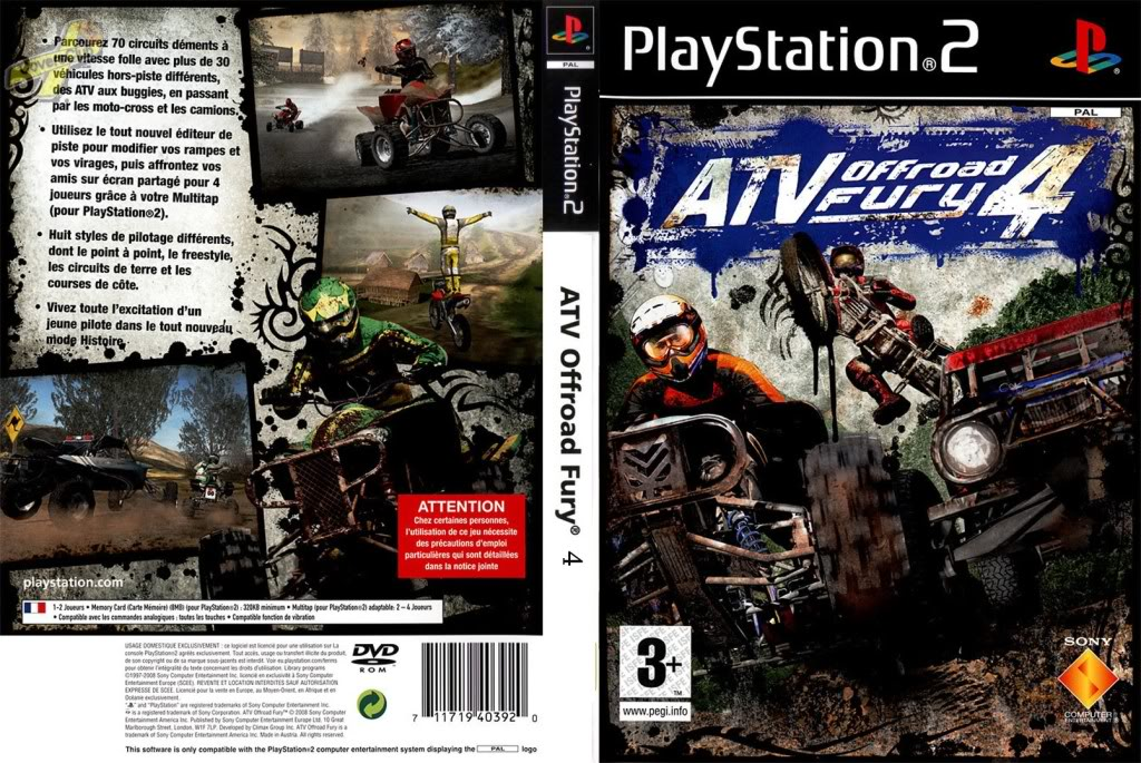 Jeu ATV Off Road Fury 4 sur PlayStation 2