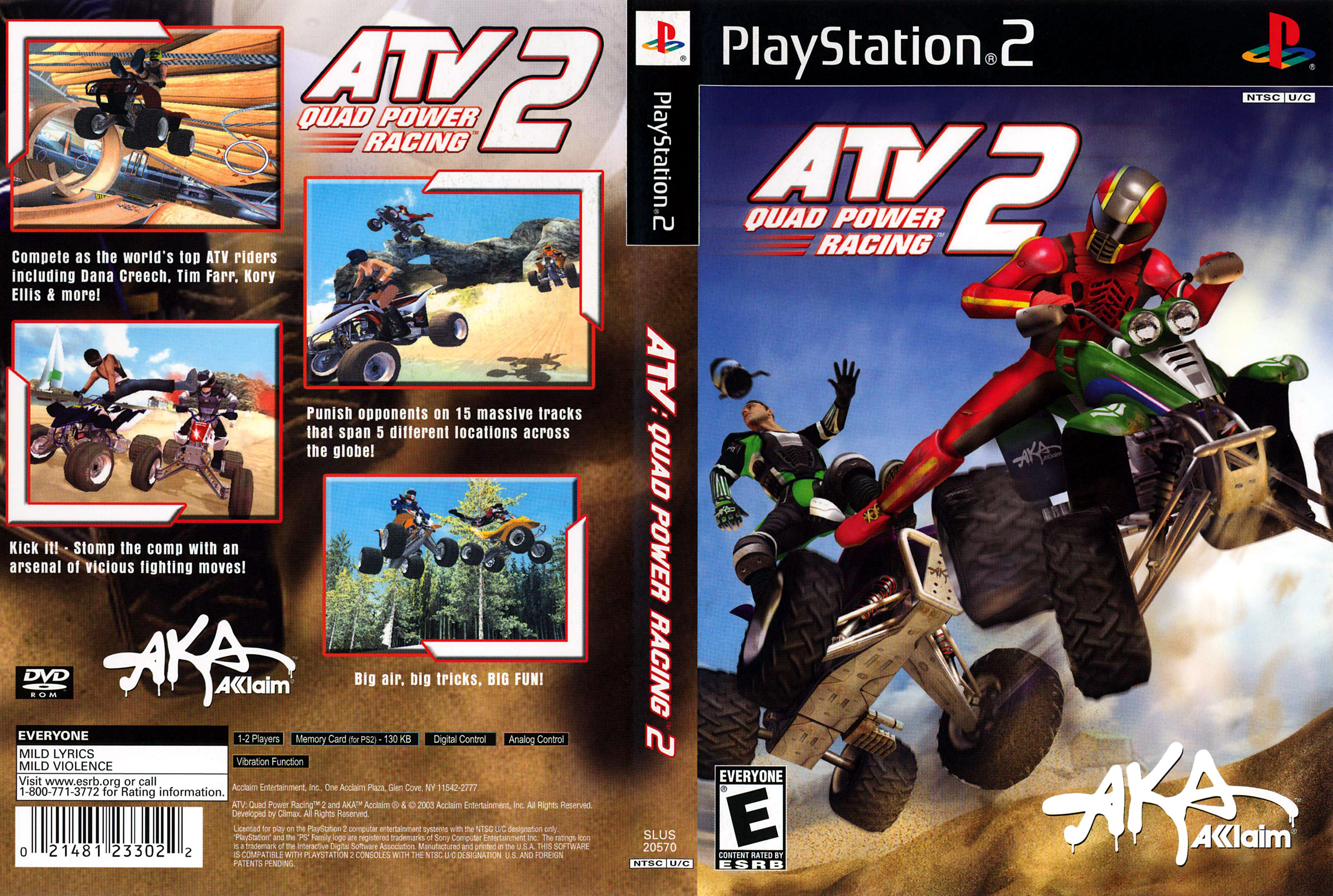Jeu ATV Quad Power Racing 2 sur PlayStation 2