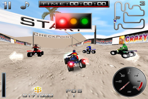 Jeu CrazXQuad sur Iphone