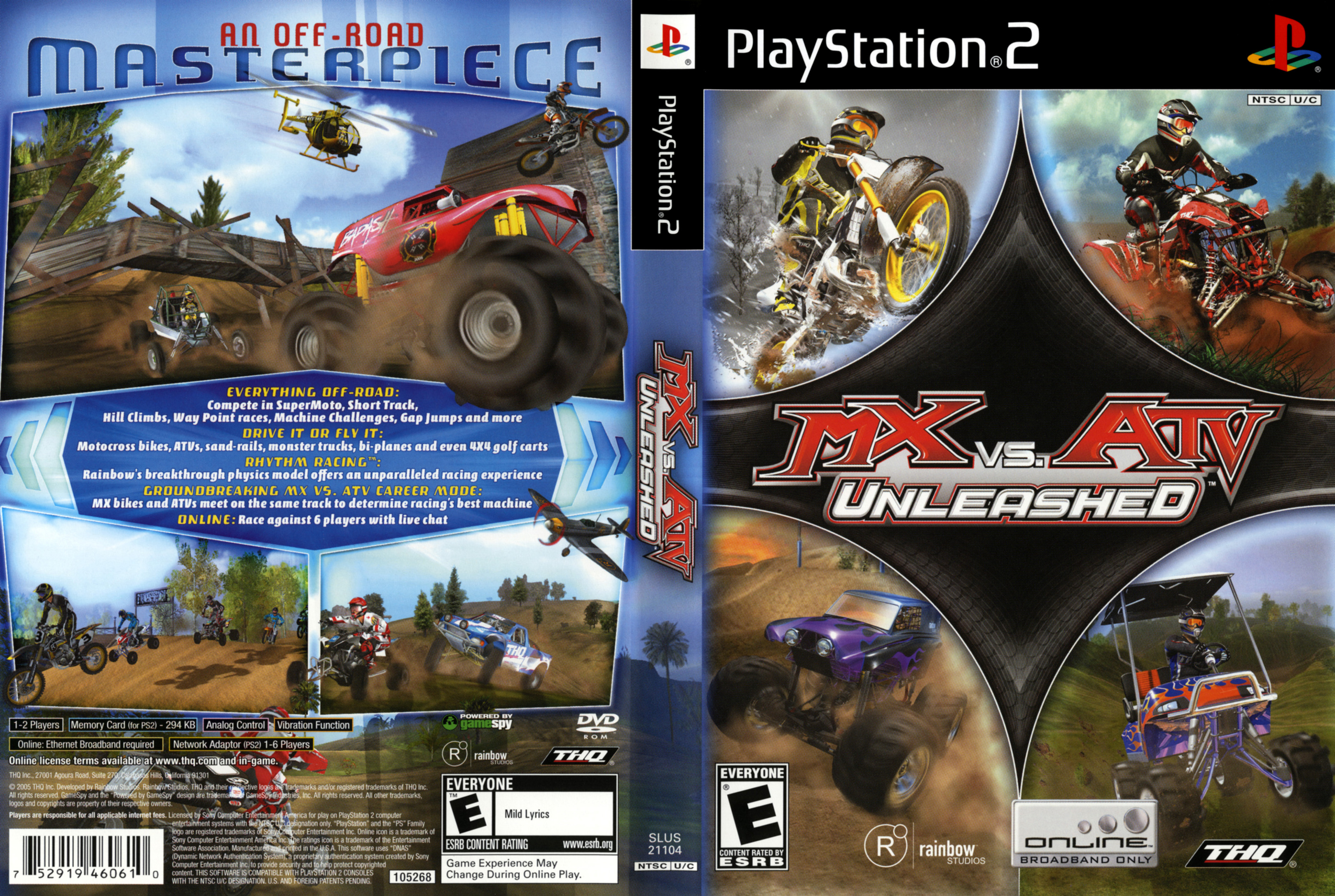 Jeu MX vs ATV Unleashed sur PlayStation 2