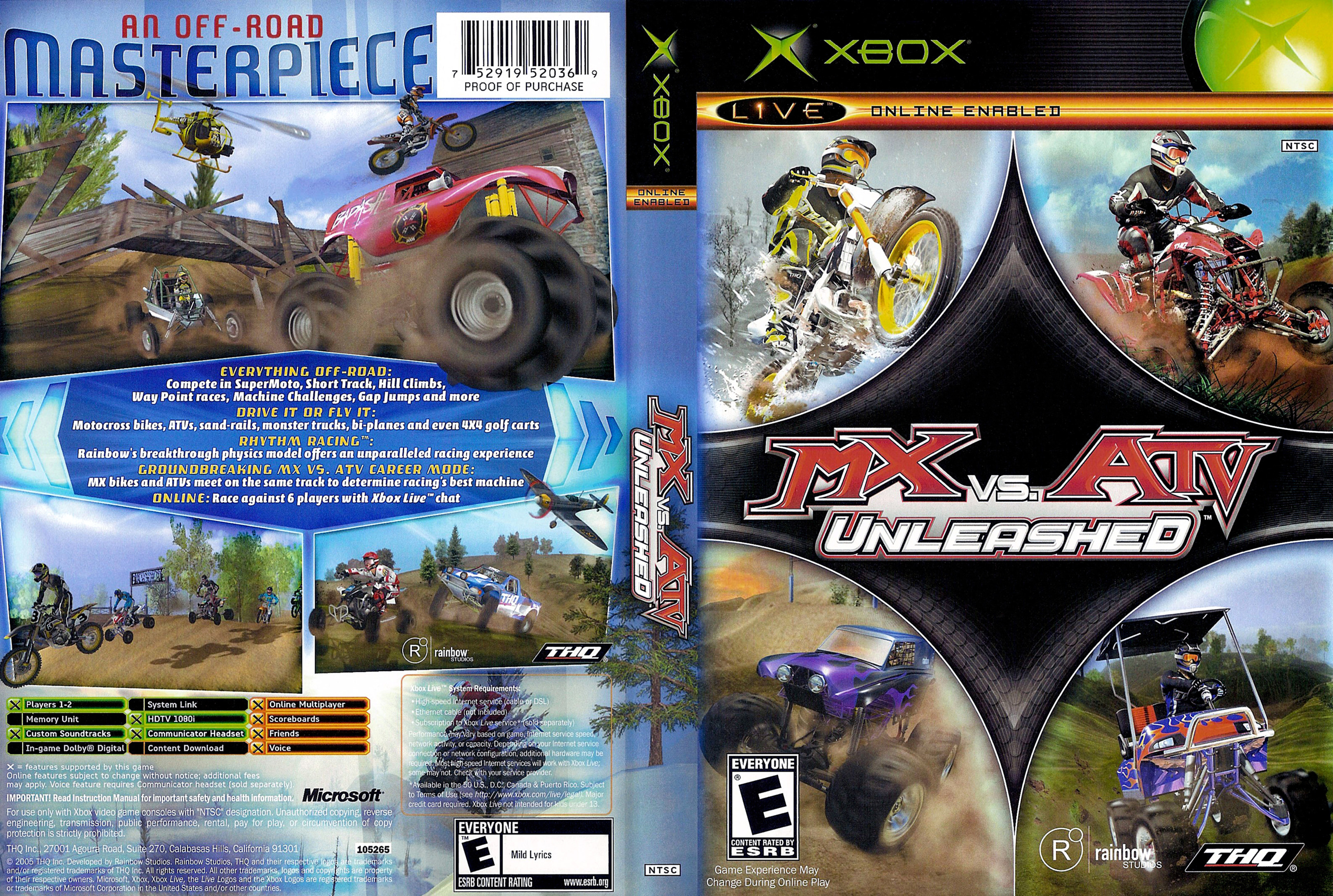 Jeu MX vs ATV Unleashed sur Xbox 360