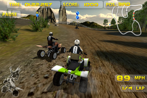 Jeu ATV Madness sur Iphone